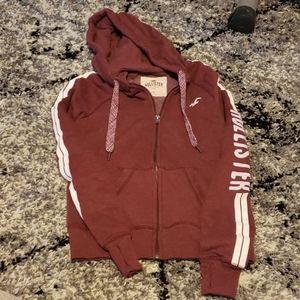 Hollister zip front hoodie